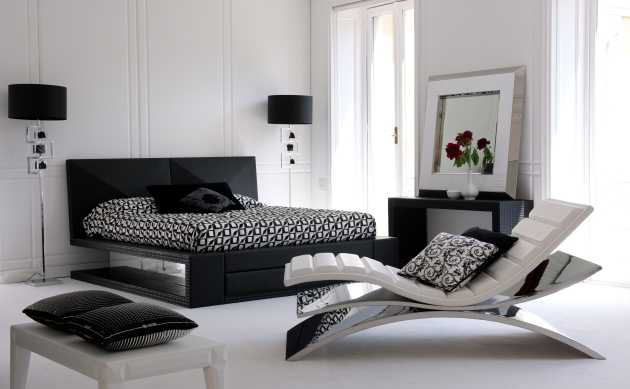 Stunning Camera Da Letto Moderna Nera Contemporary - House Design ...