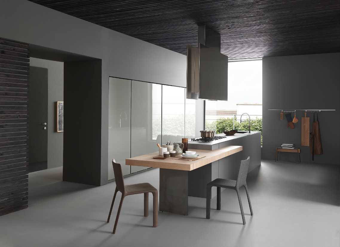 Vetro in cucina for Isola attrezzata per cucina